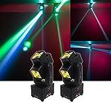 (2) American DJ ADJ XS400 LED DMX Compact Moving Head RGBW Club FX Light XS 400
