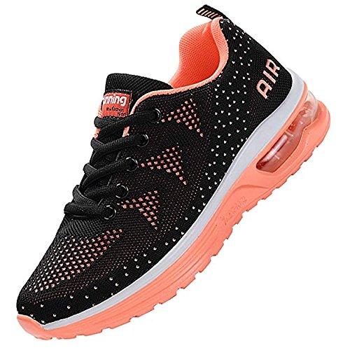 JACKSHIBO Women Lighweight Air Cushion Comfort Running Shoes,Women Blackpink 41 by JACKSHIBO (Image #1)