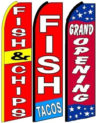 Grand Opening King Swooper Feather Flag Sign Pack of 15 Hardware not Included