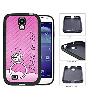 Pink Bride To Be Wallpaper with Wedding Ring Samsung Galaxy S4 I9500 Rubber Silicone TPU Cell Phone Case