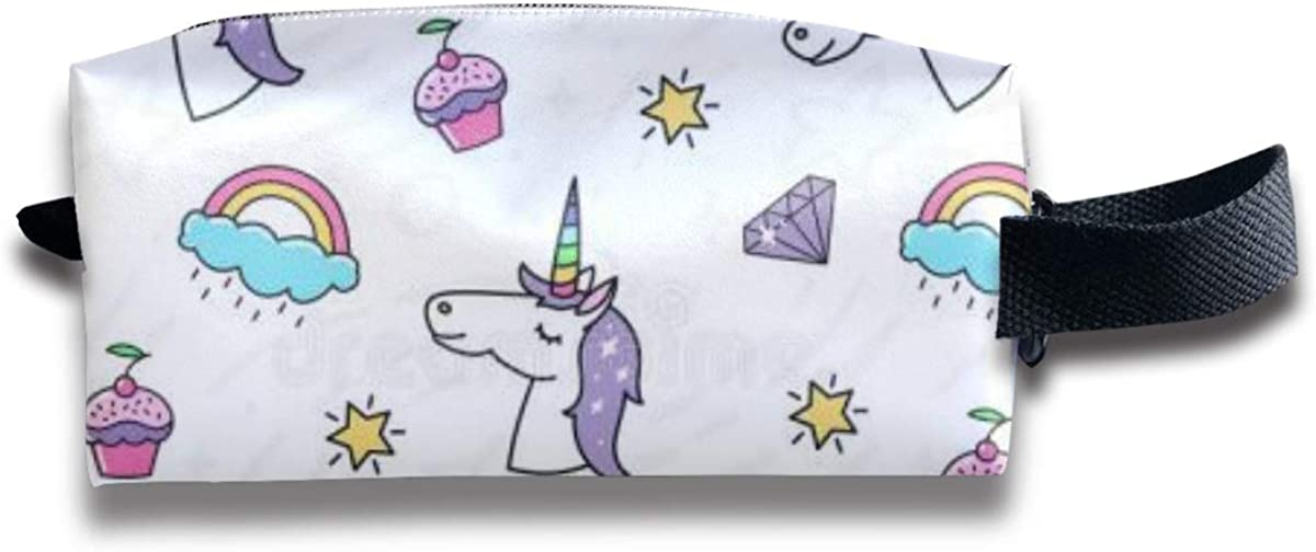 Novelty Colorful White Horse Portable Evening Bags Clutch Pouch Purse Handbags Cell Phone Wrist Handbags For Womens