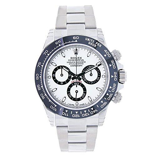Rolex Daytona 40mm Stainless Steel & Ceramic White Dial Watch 116500LN