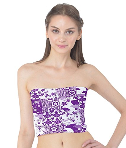 Purple con White CowCow Donna top giapponese tubo a amp; qUwRYRHngE
