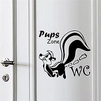 Weaeo Lustige Welpen Zone Wc Dekorative Wand Sticker Für Badezimmer ...