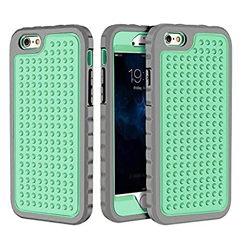 iPhone 6 Plus/6S Plus Case, Hybrid Heavy Duty Shockproof Full-Body Protective Case with Dual Layer [Hard PC+ Soft Silicone] Impact Protection for Apple iPhone 6S Plus 5.5 inch. (New Mint (Motorola Droid Mini Speck Case)