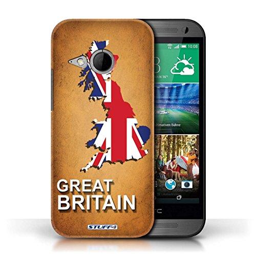 Kobalt® Imprimé Etui / Coque pour HTC One/1 Mini 2 / grande-Bretagne conception / Série Drapeau Pays