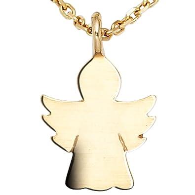 Kinder Anhänger Schutzengel Engel 585 Gold Gelbgold