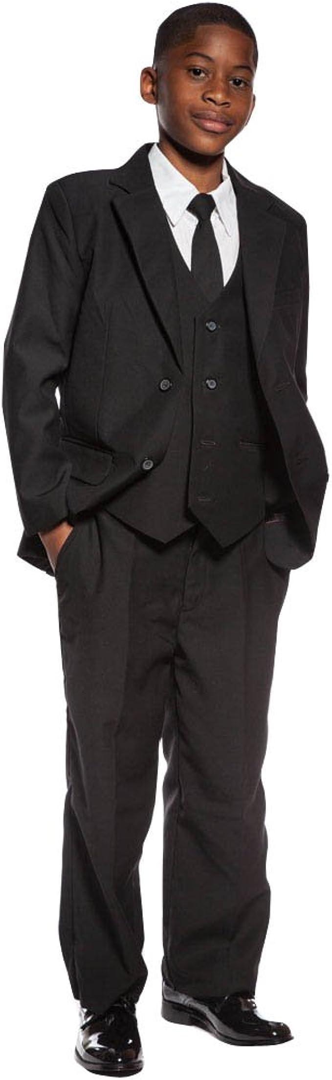 Kelaixiang Boys Classic Fit Formal Dress Suit Set 3 Piece Jacket Pants Vest Suits for Wedding