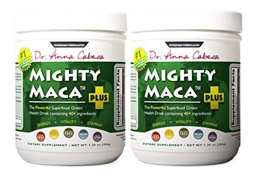 Mighty Maca Plus (2 Pack) - Delicious, All-Natural, Organic Maca Superfoods Greens Drink, Allergen & Gluten Free, Vegan, Powder by VidaPura