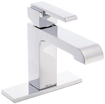 Delta 567LF-TP Ara Single Lever Handle Center Set Bathroom Faucet ...