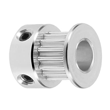 Fenteer 5 Pack GT2 Pulley 16 Teeth 5mm bore Timing Belt Pulley 16T Aluminum Synchronous Wheel For 3D Printers