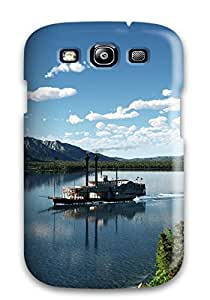 Galaxy S3 Hard Back With Bumper Silicone Gel Tpu Case Cover Boat