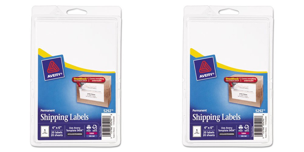 amazon com avery permanent shipping labels 4 x 6 inches white