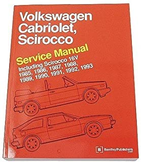 volkswagen cabriolet scirocco service manual 1985 1986 1987 rh amazon com Vision Cross Wheels VW Cabriolet Volvo Cars