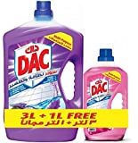 Dac Super Disinfectant Multi-purpose Cleaner, Lavender 3L plus 1L Rose
