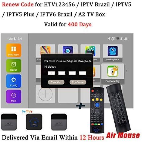Código de renovación para IPTV Brasil 400 días de suscripción IPTV con Teclado WiFi...: Amazon.es: Electrónica