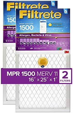 Filtrete 16x20x1 스마트 에어 필터 MPR 1500 S-UR01-2PK-1E / Filtrete 16x20x1 스마트 에어 필터 MPR 1500 S-UR01-2PK-1E
