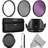 52MM Vivitar UV CPL FLD Filter Kit and Accessory Bundle for Lenses with a 52mm Filter Size