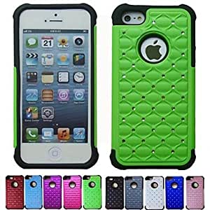 ZL Two-in-One All Over The Sky Star Design PC and Silicone Case for iPhone 5/5S (Assorted Colors) , Light Blue