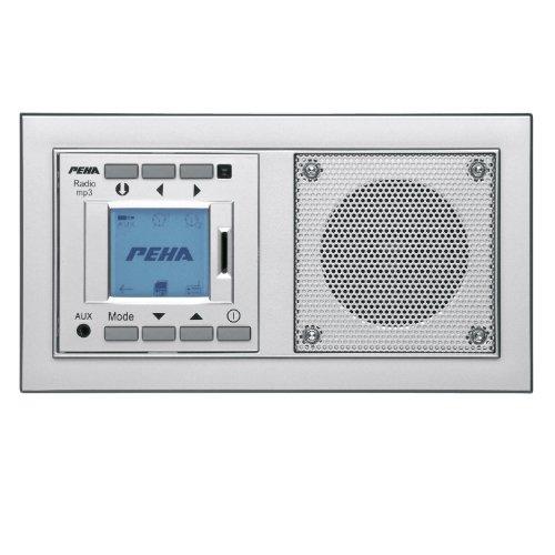 PEHA MP3 Unterputz-Radio AudioPoint im Nova-Design mit Funksender ...