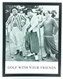 Golf Picture with 3 Stooges Black and White Framed Golf