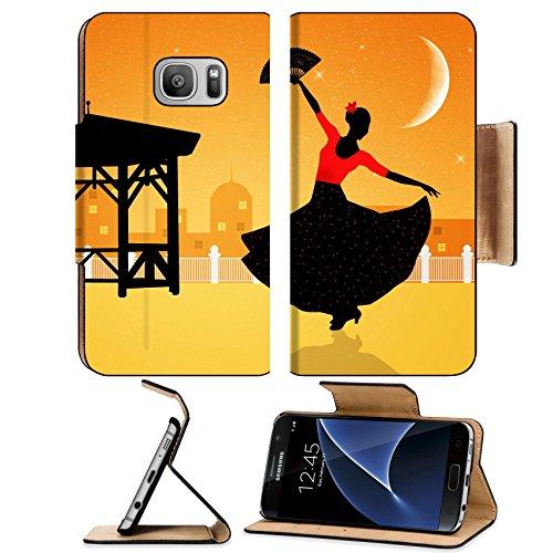 Flash Dance Latin Costumes (Liili Premium Samsung Galaxy S7 Flip Pu Leather Wallet Case Illustration of flamenco dancer Image ID 21730598)