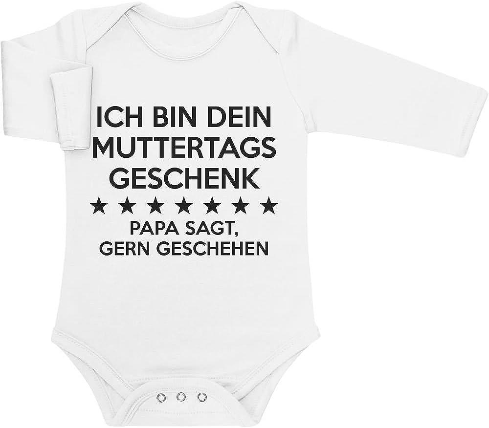 Shirtgeil Ich Bin Dein Muttertagsgeschenk Papa SAGT Gern Geschehen Baby Langarm Body