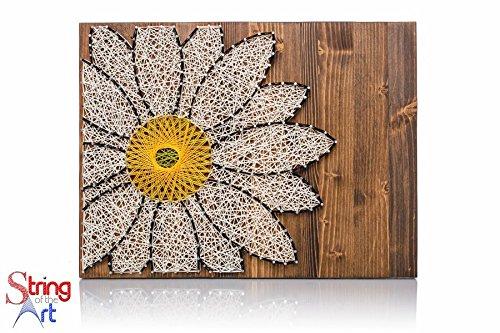 DIY String Art Kit - Daisy String Art, DIY Kit, Crafts Kit, Daisy Art, Daisy Lover Gift, Daisy Gift Ideas, Daisy Decor, w/ supplies and wood