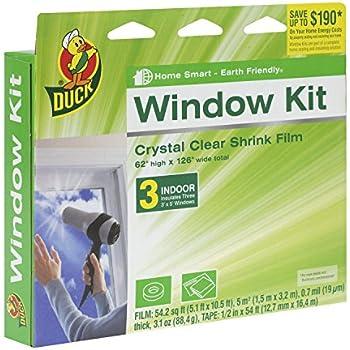 Duck Brand Indoor 3 Window Shrink Film Insulator Kit 62