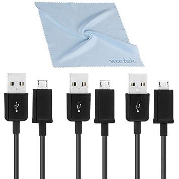 wortek - Juego de 3 original Samsung Micro Usb Cable alta ...