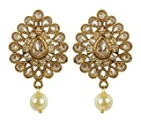 MUCH-MORE Indian Fantastic Style Gold Plated Party Wear Polki/Jhumka Earring Jewelry for Women (7295)