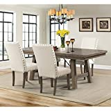Cheap Picket House Furnishings Dex 5 Piece Dining Set in Walnut and Cream
