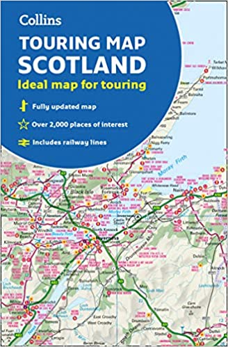 Map Of Uk And Scotland.Scotland Touring Map Ideal For Exploring Amazon Co Uk Collins
