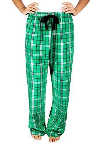 Plaid Ladies Green Pants Pajama (leveltech Christmas Pajamas Pants for Women Red Green Plaids Lounge Pants (Green, XL))