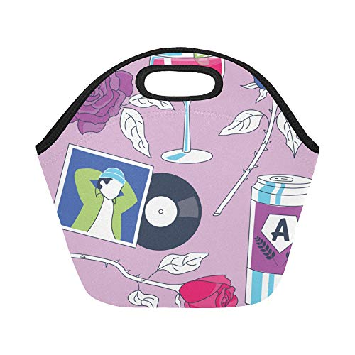 Insulated Neoprene Lunch Bag Planning Romantic Datenight Home Beer Cocktails Large Size Reusable Thermal Thick Lunch Tote Bags Lunch Boxes For Outdoor Work Office School (Planning A Romantic Evening For A Man)
