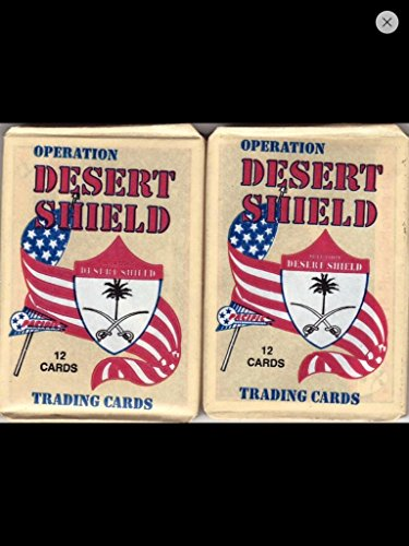 Desert Storm Trading Cards 1991 Unopened Packs (4) Wax Packs Veterans Gift -