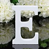 Totoo Decorative Wood Letters, Hanging Wall 26 Letters Wooden Alphabet Wall Letter for Children Baby Name Girls Bedroom Wedding Brithday Party Home Decor-Letters (E)