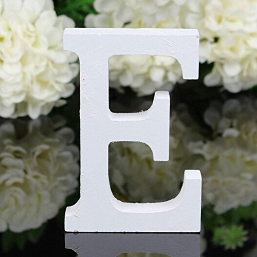 Decorative Wood Letters,Totoo Hanging Wall 26 Letters Wooden Alphabet Wall Letter for Children Baby Name Girls Bedroom Wedding Brithday Party Home Decor-Letters (E) (Words Wooden Decor)