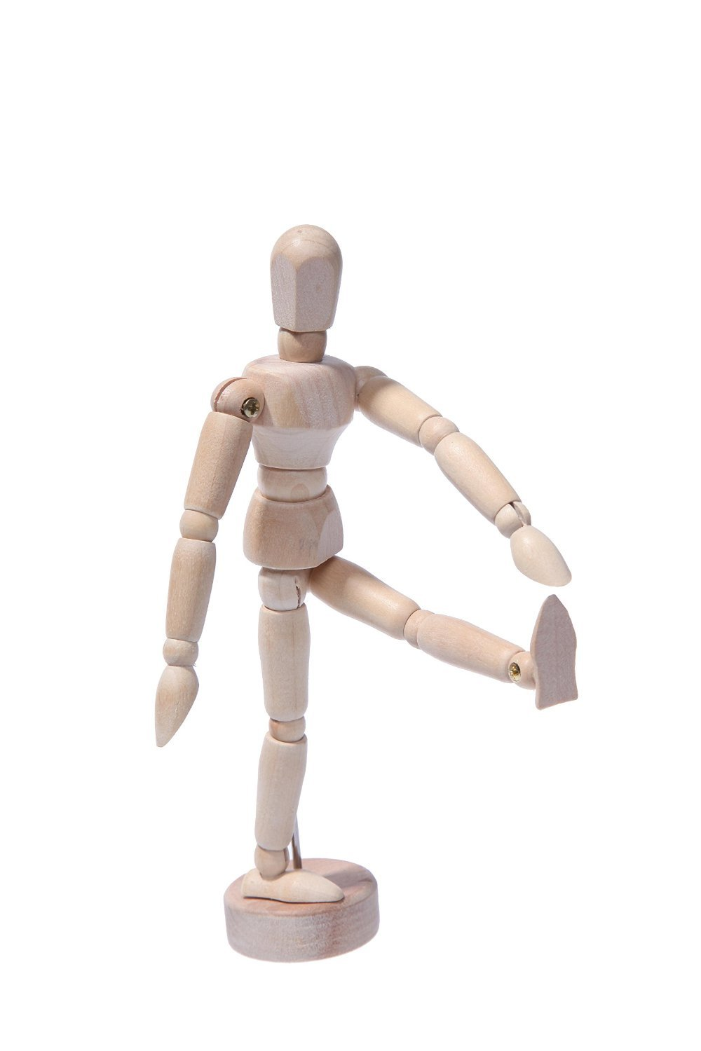 Wooden Sectioned Posable Body - Wood Full Body Art Mannequin - Posable Unisex Manikin - Art Supplies Drawing Model for Beginners - Mini Minikin Mannequin with Stand - Sketch Art Manikins - 5.5 inches Juvale 4336946136