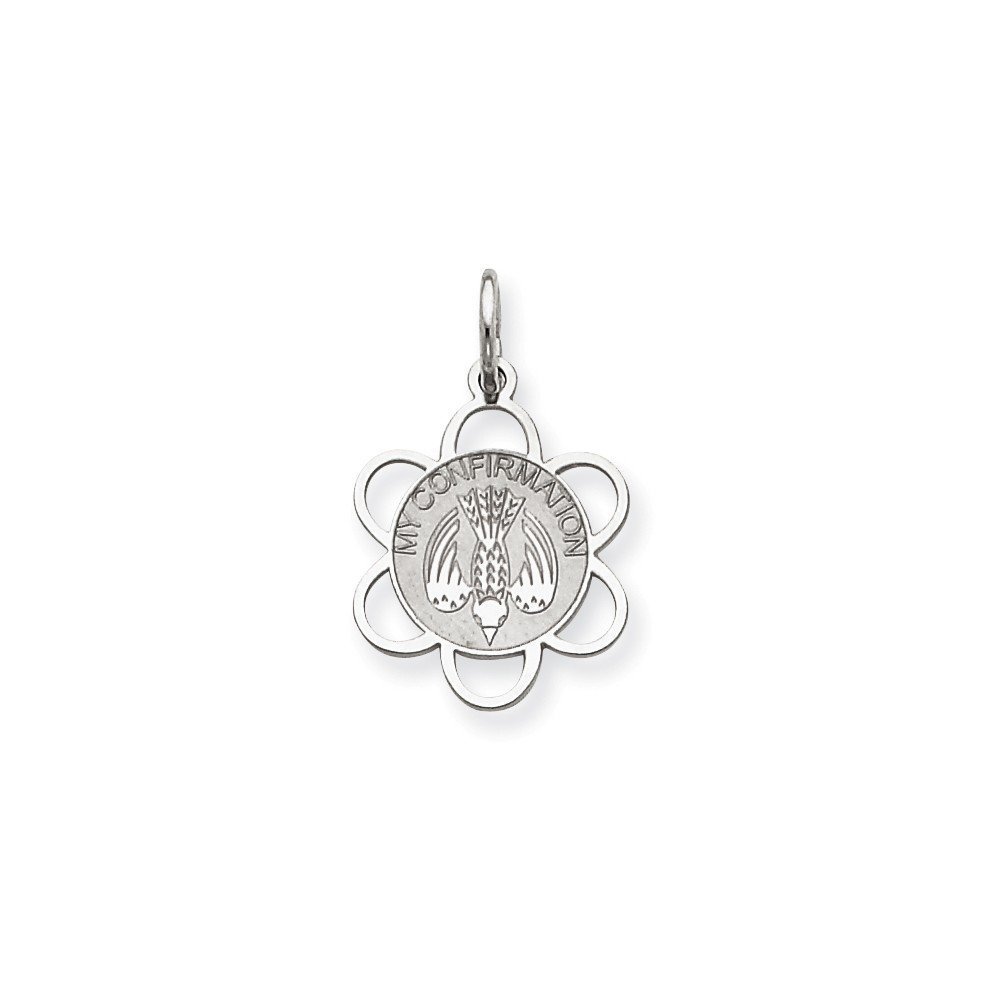 .925 Sterling Silver My Confirmation Disc Charm Pendant