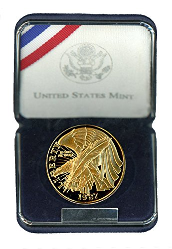 1987 W Constitution Gold Commemorative G$5 Proof