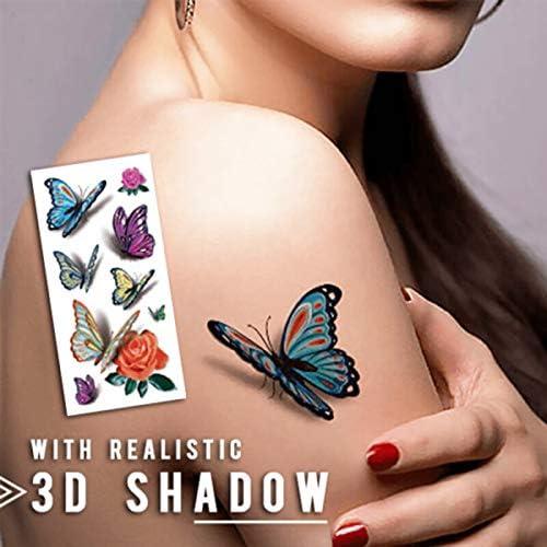 Sioyo 3D calcomanía de Tatuaje Falso, Temp Body Art Temporal, Set ...
