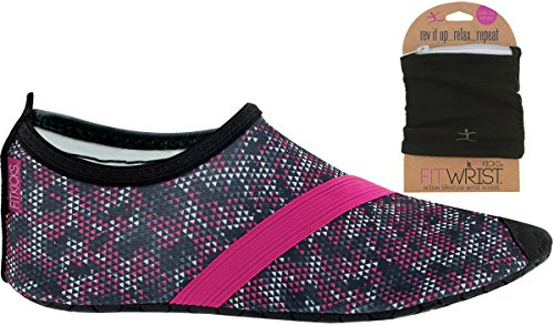FITKICKS Shoe Shoes Wallet Primal with FITKICKS Shoes Womens FITWRIST Womens Black with qZtfZw