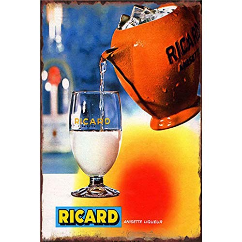Easy Painter Tin Signs Wall Plate Poster, Ricard Cup Garage Shop Home Wall Decoration 20X30Cm (Ricard Poster)