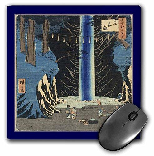 - 3dRose Florene Art Deco and Nouveau - Blue n Peach Waterfall Scene - MousePad (mp_43811_1)