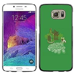 // PHONE CASE GIFT // Duro Estuche protector PC Cáscara Plástico Carcasa Funda Hard Protective Case for Samsung Galaxy S6 / Absinth Fairy Dreams - Funny /