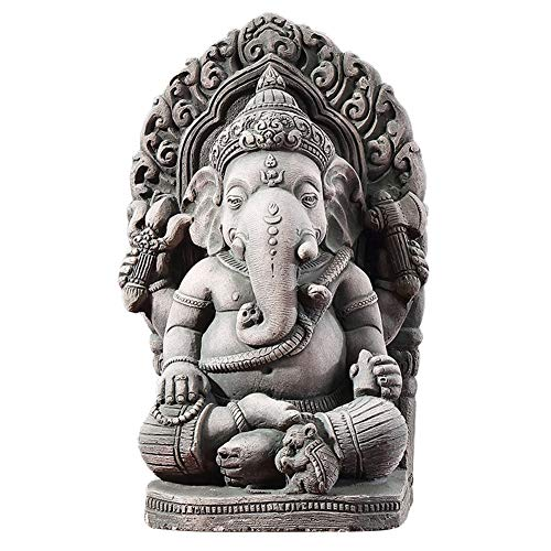 SDBRKYH Buddha Sculpture, Ganesha Sand Sculpture Stone Carving Crafts Buddha Statue Sandstone Elephant Sculpture Fengshui Figurine Home Decor ()