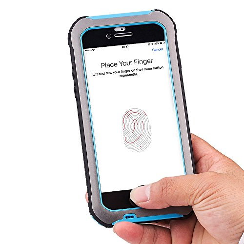 BOLISH PC + TPU + Metal Tasche Hüllen Schutzhülle - cover IP68 Professional Waterproof Tasche Hüllen Schutzhülle - Case für iPhone 7 4.7 Inch - Grey / Blue