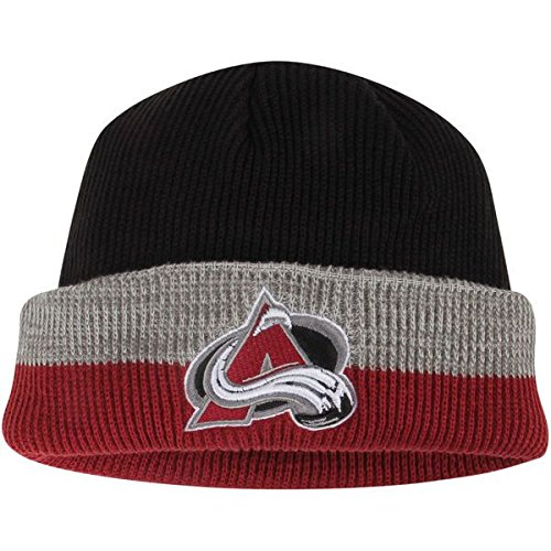 fan products of Colorado Avalanche Center Ice Cuffed Reebok Knit Hat/Beanie - Adult Osfm KV07Z