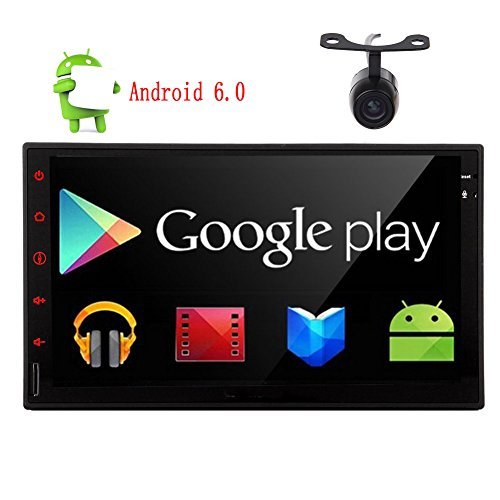 "Eincar New Developed 7"" Android 6.0 Quad Core HD Capacitive Touch Screen Double 2 Din Car Radio Stereo Support Bluetooth 1080P Mirrorlink Auto GPS Navigation Head Unit Car Stereo Reverse Camera OBD"